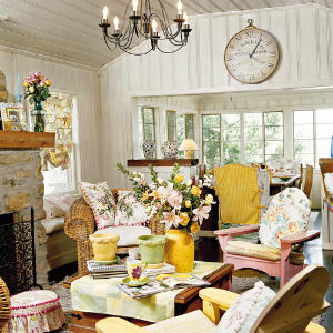 Designs House: Cottage Living Room Decorating Ideas