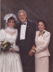 mom and me and dad